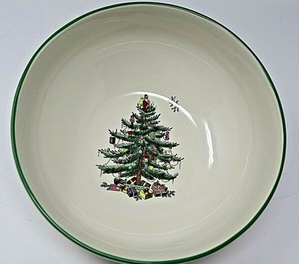 Spode Christmas Tree Bowl Santa On Top Nutcracker Pictures on Side 8quot;
