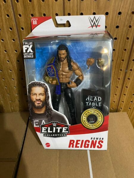 WWE Mattel ELITE SERIES 88 Roman Reigns HEAD OF THE TABLE TRIBAL CHIEF IN HAND