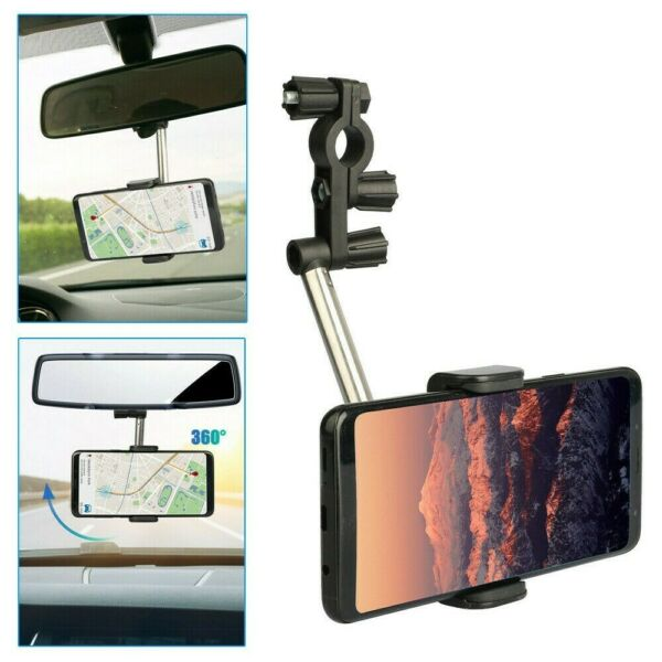 Phone Holder Car Mount Holder Retractable Stand Universal 360 Degrees New C $15.57
