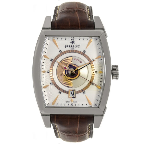 Perrelet Double Rotor Automatic Men#x27;s Watch A1029 4K $1295.00