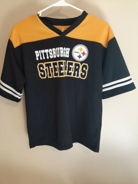 Pittsburgh Steelers NFL Team Apparel Youth XXL 18 20 Shirt right off rack cond $3.37