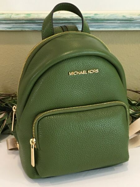 MICHAEL KORS SMALL MINI CONVERTIBLE BACKPACK SHOULDER BAG EVER GREEN LEATHER $104.99