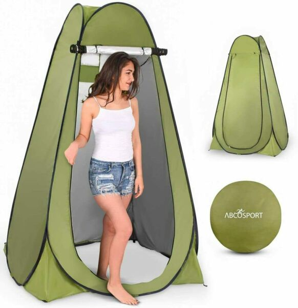 Pop Up Privacy Tent Instant Portable Outdoor Shower Tent Camp Changing Room Pod $43.91
