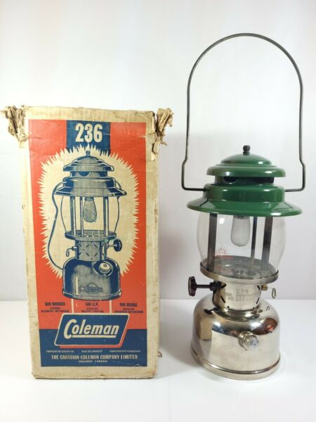 Coleman Model 236 Single Mantle 500 Candle Power Lantern Made in Canada Jan 1965 C $295.00