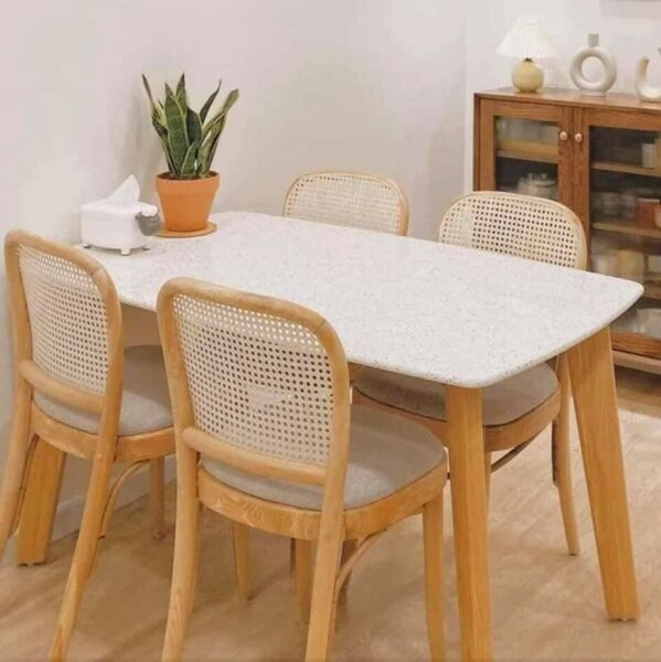 Dining Table Wooden For Kitchen Dining Room Coffee Brown