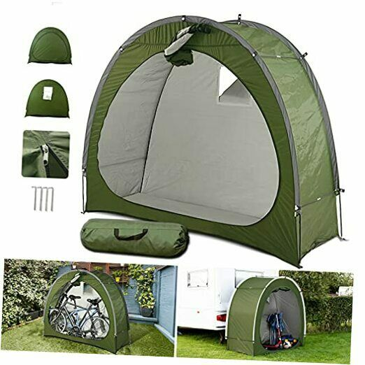 Outdoor Bike Storage Tent Waterproof Portable Bicycle Shed 2 Bikes Upgrade $147.12
