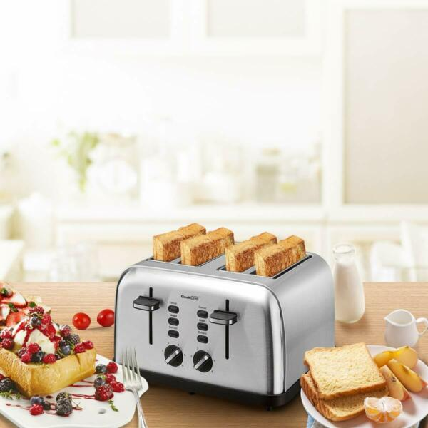 4 Slice Toaster Stainless Steel Toaster 6 Shade Settings w Dual Control Panel$