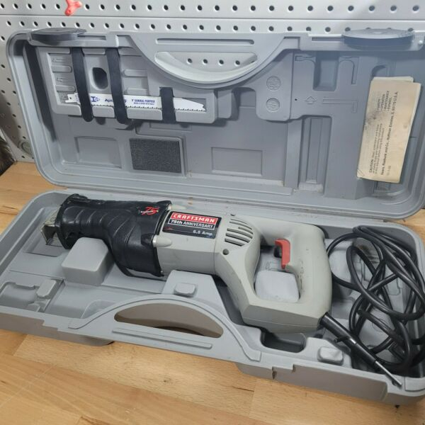 Craftsman 75th Anniversary Reciprocating Saw with case blade manual