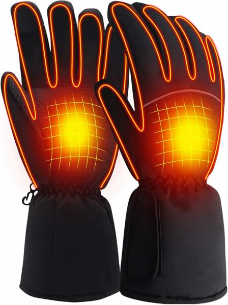 SVPRO Heated Gloves 3 Heat Settings Rechargeable Battery Powered Black Large $8.50