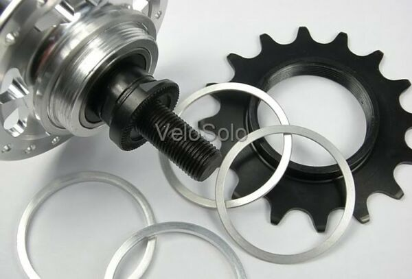 CNC SPACER KIT for Screw on FIXED TRACK COG Freewheel Cassette Shimano Hub UK GBP 10.95