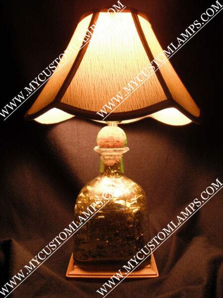 Patron Silver Liquor - Bottle Lamp - Brand New [Handcrafted]