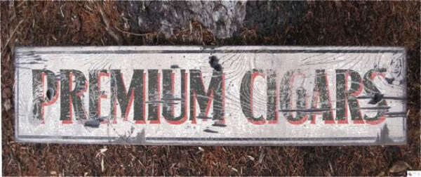 PREMIUM CIGARS -  Rustic Painted Wooden Sign