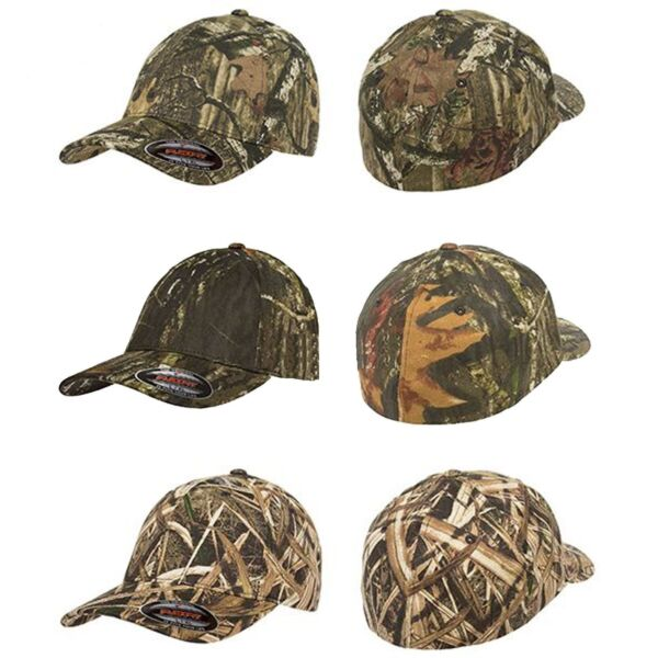 FLEXFIT Mossy Oak Infinity Camo Hats NEW Fitted Camouflage Cap S M L XL 2XL 6999
