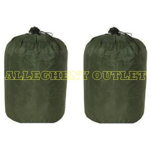 2 US Army Military WATERPROOF BAG CLOTHING BAG WET WEATHER BAG LAUNDRY BAG GC