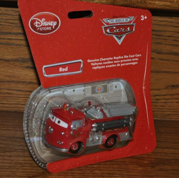 Disney Cars Disney Store Exclusive Red Firetruck Die Cast  Bubble pack 1:43 NEW