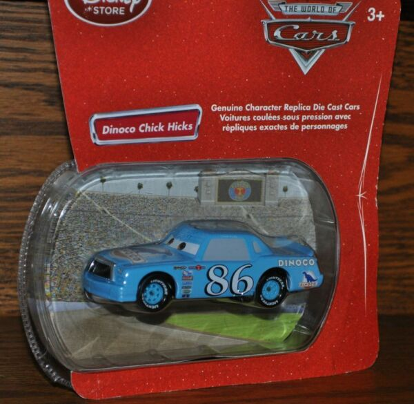 Disney Store Pixar Cars Exclusive Dinoco Chick Hicks  Die Cast  Bubble pack NEW