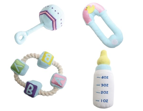 Baby Rattle Teething Ring Diaper Pin Puppy's First Toys Baby Toys for your Dog