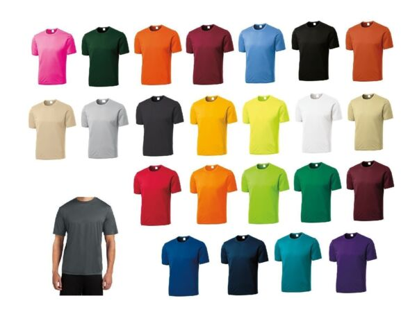 NEW Men's SPORT TEK Dri-Fit Workout Running Short Sleeve T-SHIRT S-3XL 4XL ST350