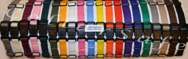 CollarSafe Light Nylon Puppy ID quot;SNAPquot; Buckle Collars Litter Bands Hand Made USA $27.95