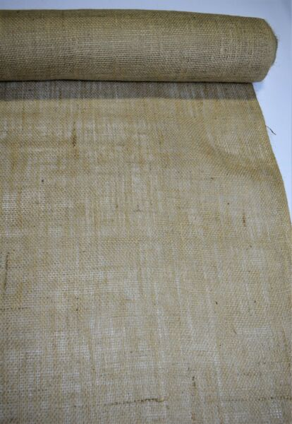 "Burlap Fabric Natural Jute 10 Oz By The Yard 60"" W Premium Vintage Upholstery"