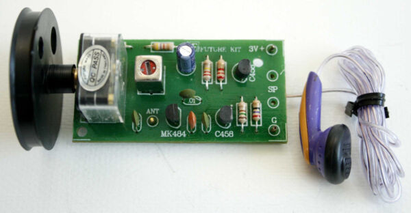SimpleBasic AM Radio Tune Frequency MK484 With Head Phone Assembled Kit [FA709]