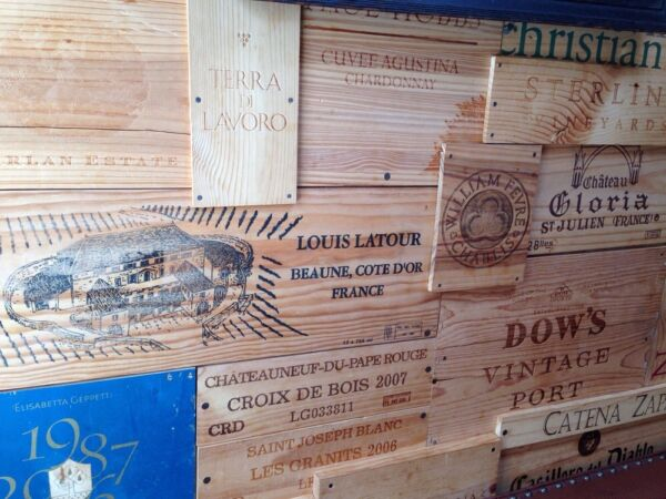 25!  Assorted BRANDED WINE PANELS.  CRATE Box SIDE End Tops  Wood Diff. Sizes