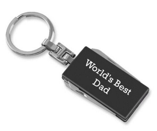 20 pcsFathers Day Gift World's Best Dad Multi-Tool Keychain