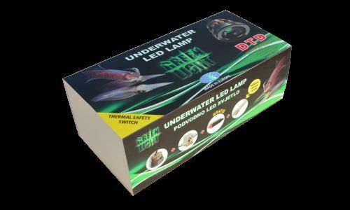 DTD PROFESSIONAL UNDERWATER SQUID LED LIGHTS GREEN 12V  1000Lm
