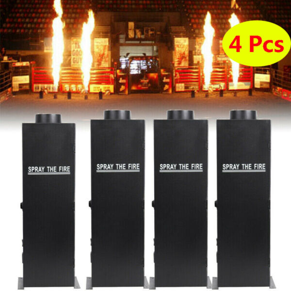 4PCS Flame Thrower Stage Show Party 200W Fire Sprayer Effect Projector Machine