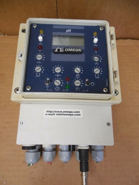 Omega Dual Output Pulse Frequency pH Controller PHCN-23 PHCN23 115V +- 0.03ph
