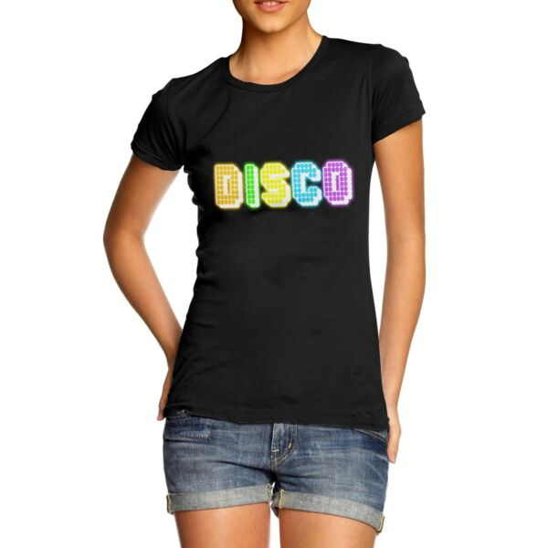 Twisted Envy Women#x27;s Rainbow Disco Lights T Shirt