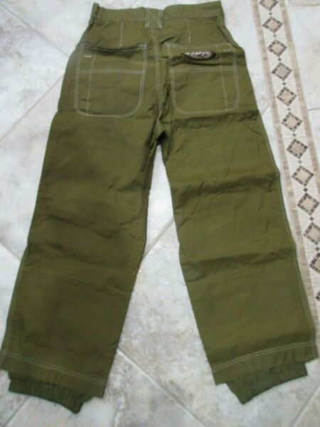 Rusty Industrial Work Force Olive Green Ski Snow Pants Size S #C