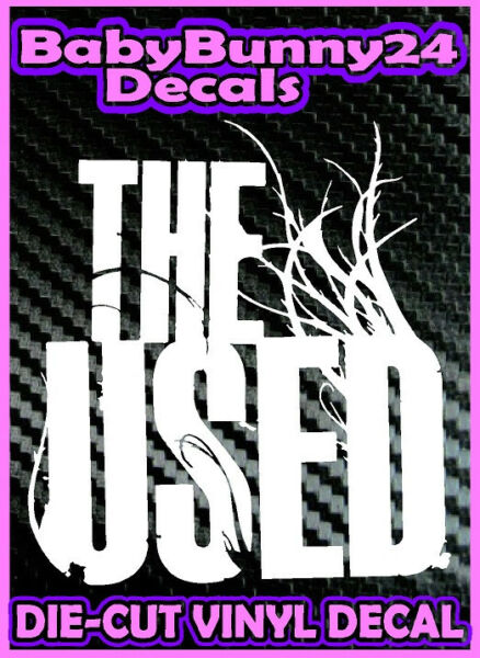 THE USED Band Logo Vinyl DECAL Sticker Laptop Truck and Car Rock Metal