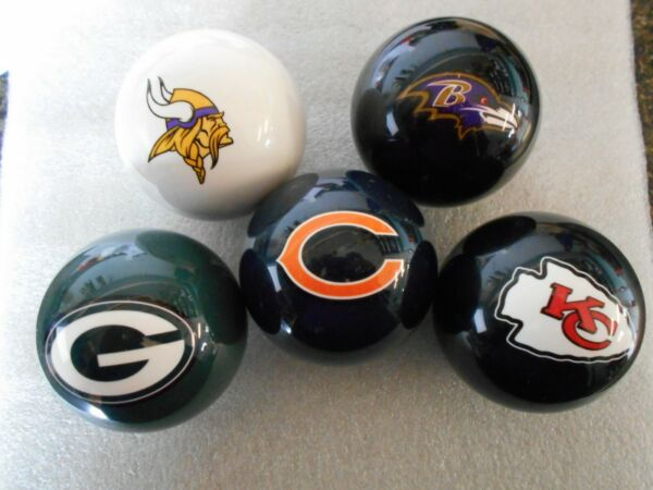 New! NFL Team Logo Billiard  Pool  Cue Ball- Pick Your Team! FREE SHIP!