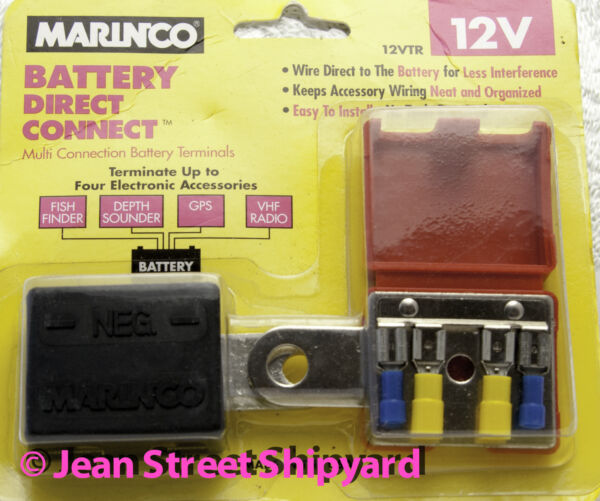 Marine Battery Direct Connect Multi Terminal Battery Connector Marinco 12VTR