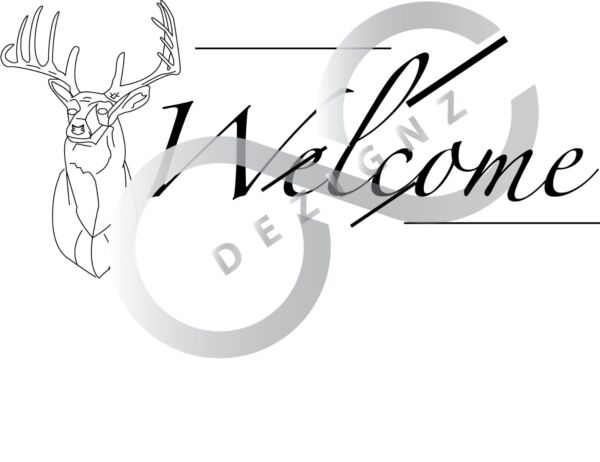 welcome deer pyrography pattern