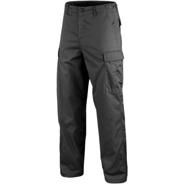Ranger Army Cargo Combat Work Wear Mens Trousers Casual BDU Pants Black S-3XL