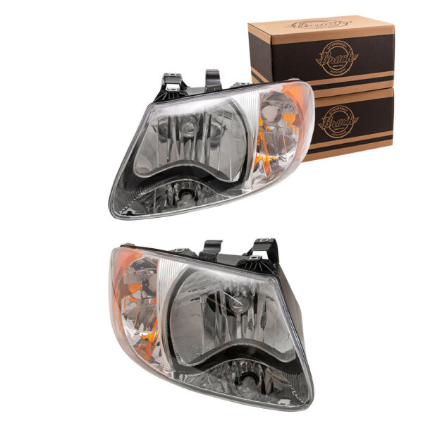 Headlights Headlamps for 2001-2007 Chrysler Town & Country Voyager Dodge Caravan