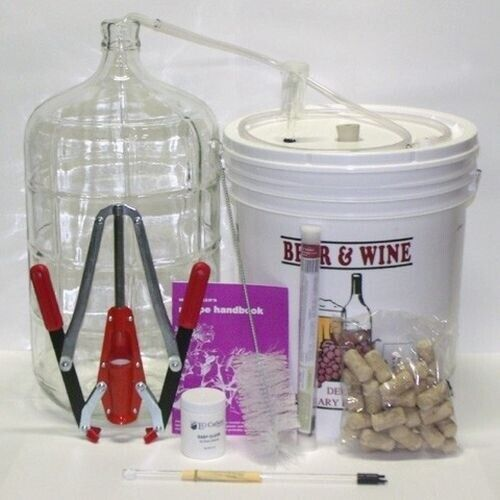 Deluxe Wine Making Equipment Kit with Better Bottle Style Carboy Home Winemaking $139.99