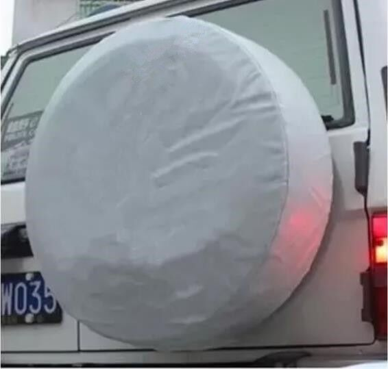 28quot; DIY trailer Spare tire tyre Wheel Cover Pure White Heavy Duty Vinyl Material $28.15