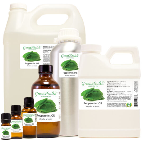 GreenHealth Peppermint Essential Oil 100% Pure 5ml-1gallon Free Shipping