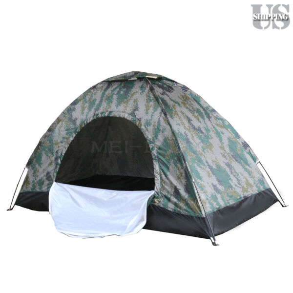 Outdoor 2 Person 4 Season Camping Hiking Waterproof Folding Tent Camouflage