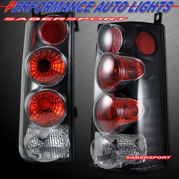 Set of Pair Black Taillights for 2003-2014 GMC Savana and Chevy Express Van