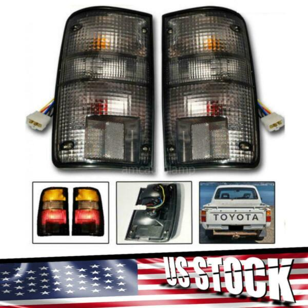 Fit Toyota Hilux Mk3 Pickup Tail Lamp Taillights Smoke 89-97 Ute Assembly