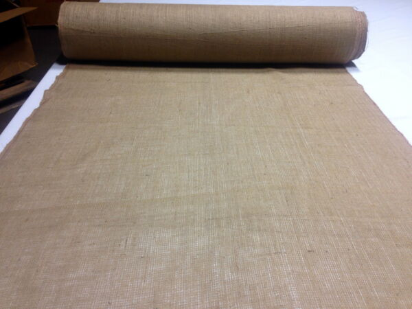 Jute Burlap Fabric Natural Vintage Premium 10 oz 72