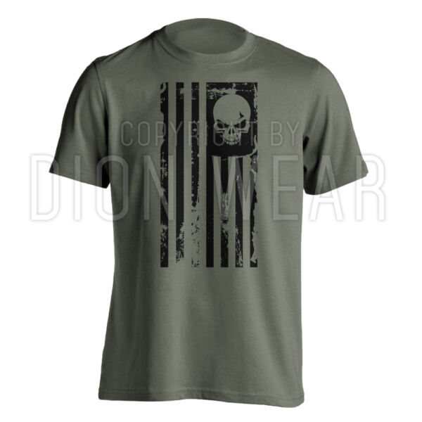 American Flag Skull Punisher Sniper Legend Military Men#x27;s T shirt