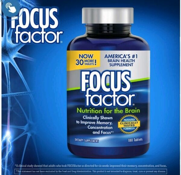 FOCUSfactor Americas #1 Brain supplement 180 tablet improve memory concentration