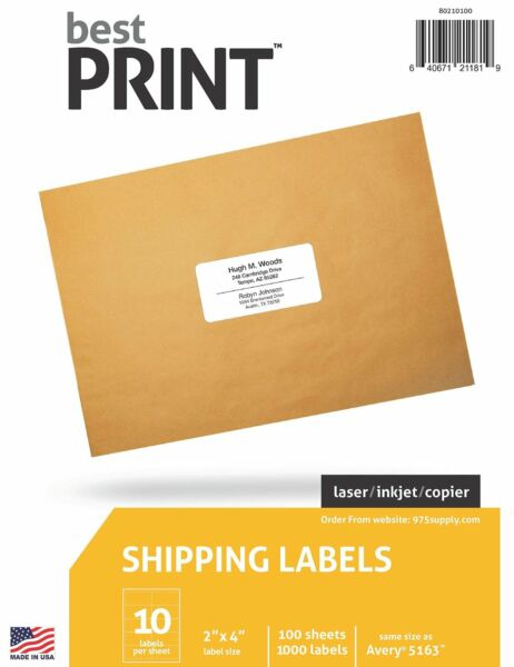 10 Up  Best Print ® Address Labels  2
