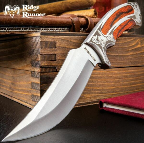 10quot; Elk Ridge Wood Hunting Skinning Survival Fixed Blade Full Tang Knife Bowie