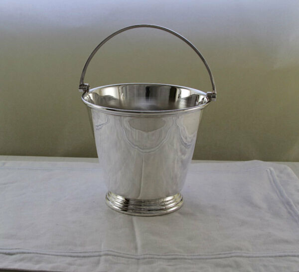 Silver Ice Pail with Strainer  Applied Plain Mount